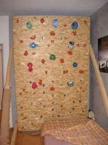 meine alte Kletterwand